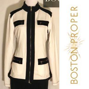 ♦️NWT BOSTON PROPER Color Block Knit Blazer